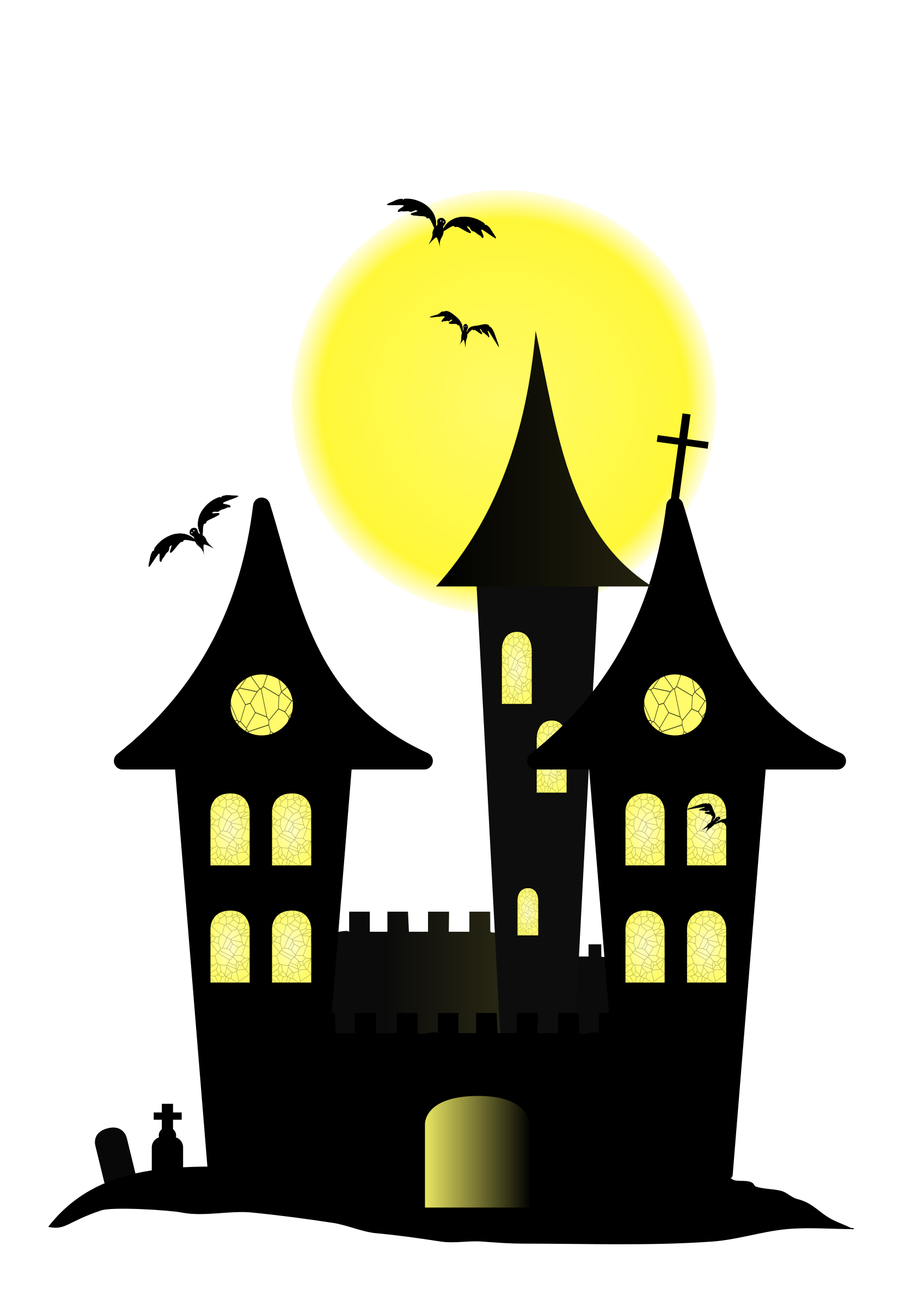 Halloween Castle Clip art - Castle png download - 1697*2400 - Free ...
