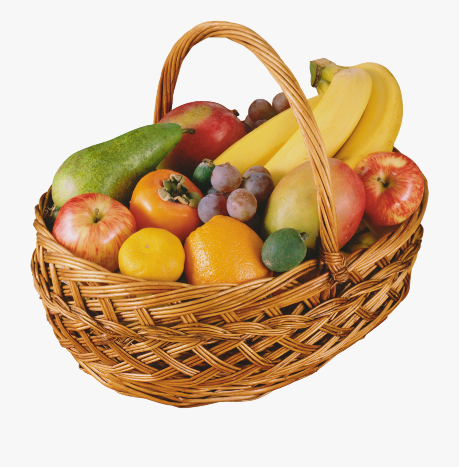 Fruit Basket Png Clipart - Basket Of Fruits Png , Transparent ...