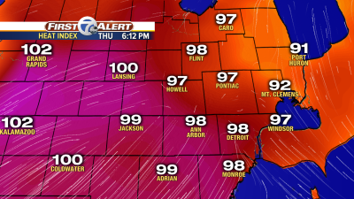 Dangerous heat on the way for metro Detroit