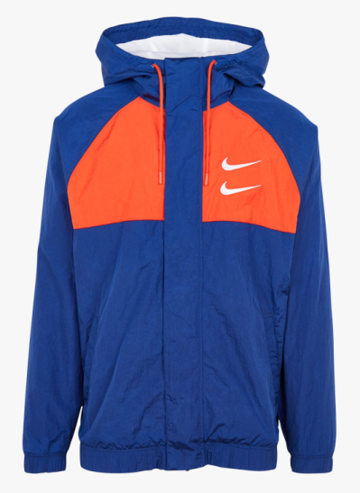 Jacket With Graphic Hood Deep Royal Blue/team Orange/white/white ...