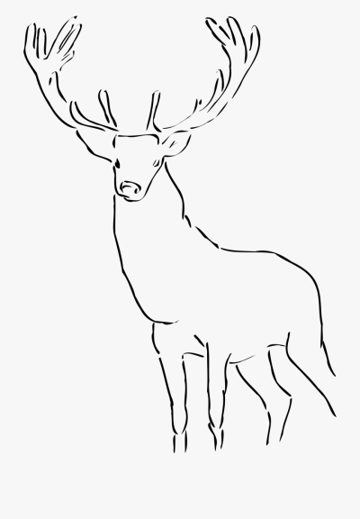 Clipart Black And White Stag , Transparent Cartoon, Free Cliparts ...