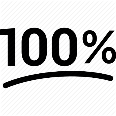 100, hundred, one, percent, percentage, pure, sign icon