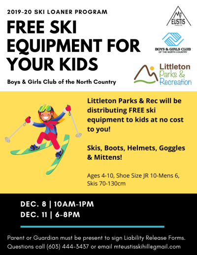 Ski Loaner Program Fit Day — Mt. Eustis Ski Hill