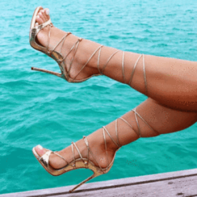 Leesi Gold Lace Up Sandals – Catwalk Connection