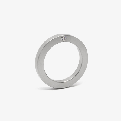 1 diamond ring - side set | Contemporary jewellery, Diamond, Rings