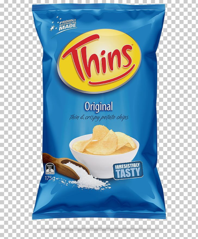 Potato Chip Thins Snack Brands Australia French Fries Salt PNG ...