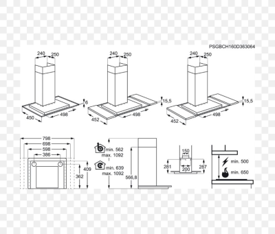 Exhaust Hood Stainless Steel AEG Technical Drawing Umluft, PNG ...