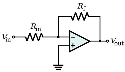 File:Op-Amp Inverting Amplifier.svg - Wikimedia Commons