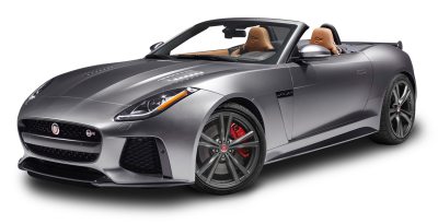 Download Gray Jaguar F TYPE SVR Convertible Car PNG Image for Free