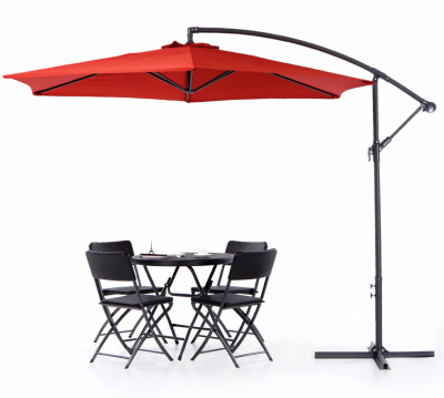 3M Adjustable patio umbrella Garden with Crank Cross Base Wind ...