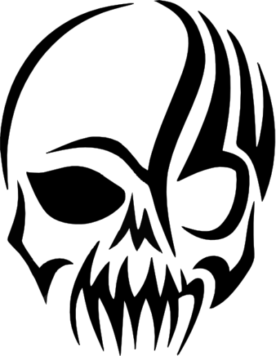 Tribal Skull Decal Clip Art at PNGio - vector clip art online ...