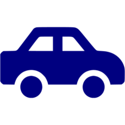 Navy blue car icon - Free navy blue car icons