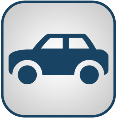 Blue And White Car Icon, PNG ClipArt Image | IconBug.com