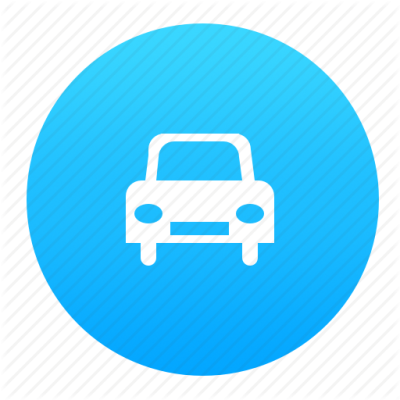 Auto, automobile, blue, car, vehicle icon