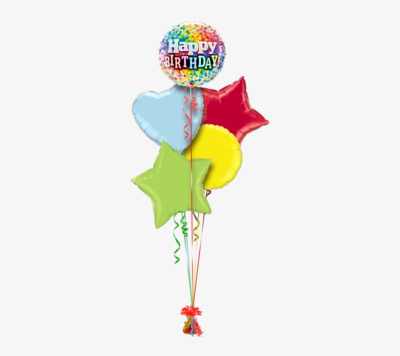 Happy Birthday Confetti Birthday Balloon - 18' Happy Birthday ...