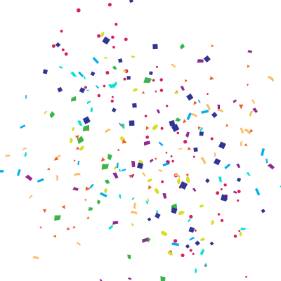Paper Confetti Party - Cartoon Happy Birthday confetti png ...