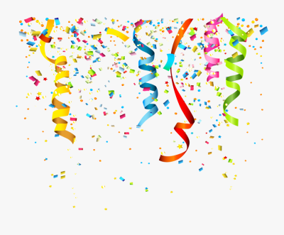 Transparent Party Popper Png - Transparent Background Confetti Png ...