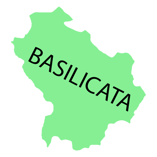 Basilicata region map - Transparent PNG & SVG vector file