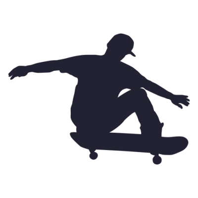 Skateboard performance silhouette 1 - Transparent PNG & SVG vector ...