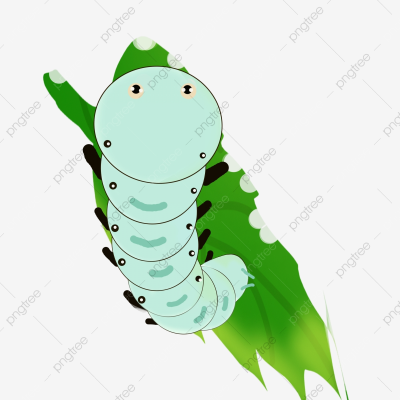 Spring Silkworm Decorative Pattern Green Blue Silkworm, Spring ...