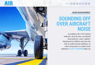 Sounding off over aircraft noise - Airport Industry Review | Issue ...