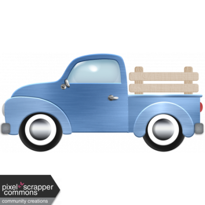 Old Pickup Truck graphic by Elizabeth Minkus | Pixel Scrapper ...