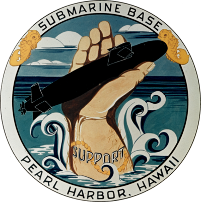 File:U.S. Navy Submarine Base Pearl Harbor, Hawaii (USA), insignia ...