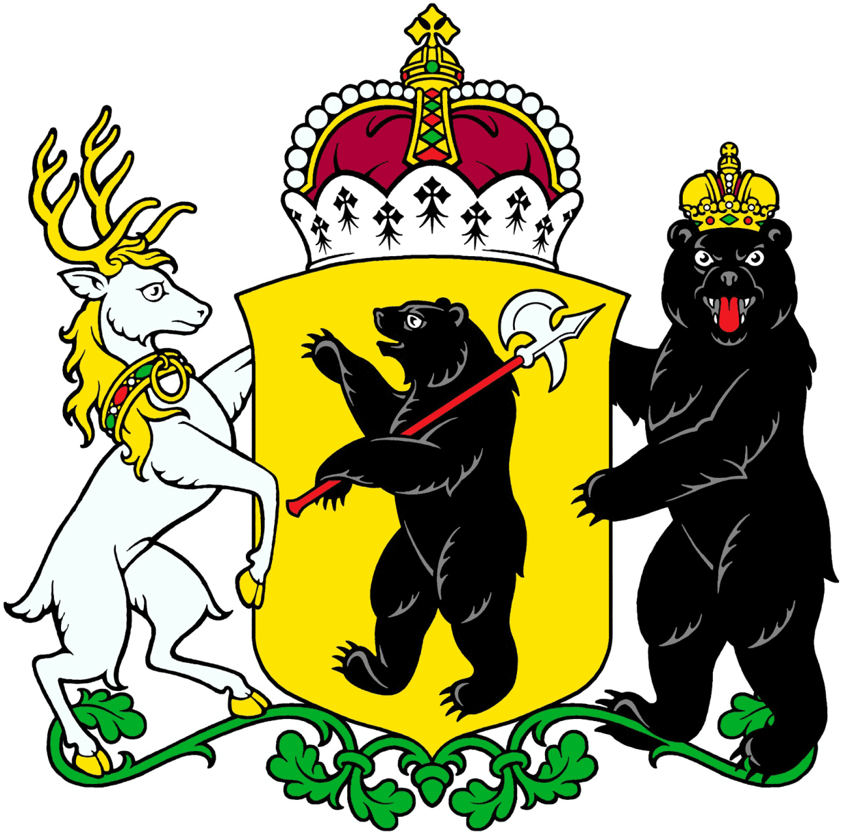 File:Coat of arms of Yaroslavl Oblast.png - Wikimedia Commons