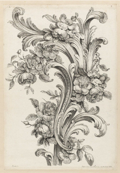 ALEXIS PEYROTTE 1740 | Acanthus, Scroll engraving, Google art project