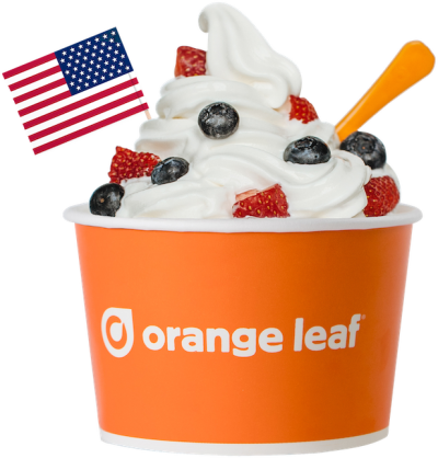 Orange Leaf Frozen Yogurt Froyo For Freedom - Military Veterans ...