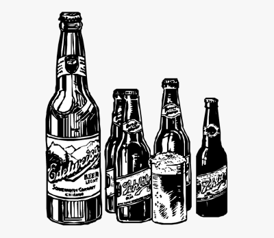 Vintage Clip Art Beer Bottle Brew Brewery - Alcohol Bottle Drawing ...