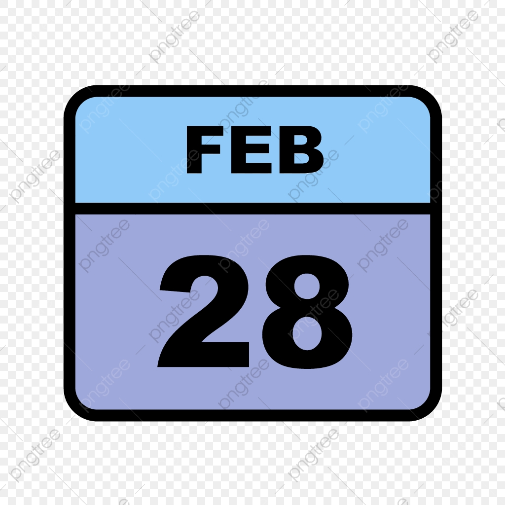 February 28th Date On A Single Day Calendar, Calendar Icons, Date ...