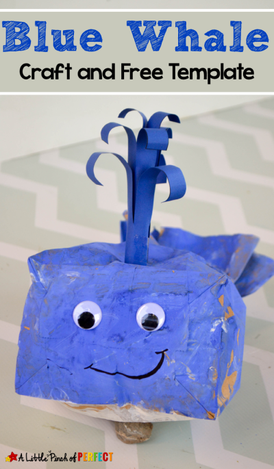 Blue Whale Paper Bag Craft and Template for Kids - | Paper bag ...