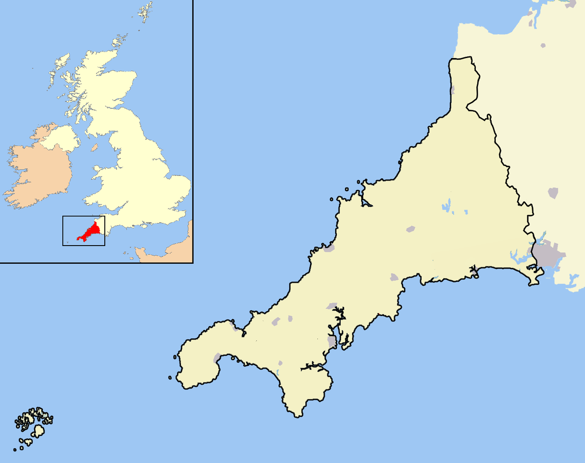 File:Cornwall outline map with UK (2009).png - Wikipedia