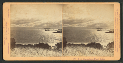 File:Goat Island, from Black Point, by Muybridge, Eadweard, 1830 ...