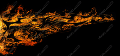Tribal Flames - Aurora Graphics