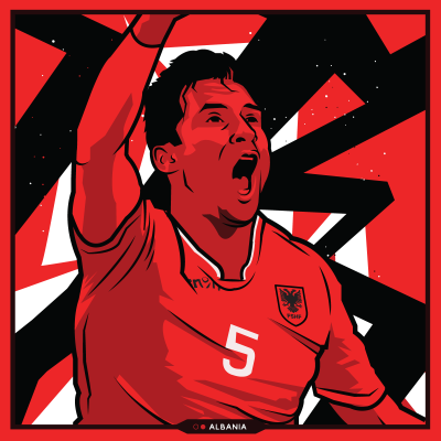 Lorik Cana - Albania - Euro 2016 by Kieran Carroll Design | Legende