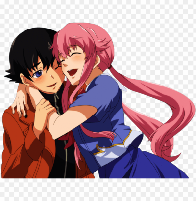 yukiteru amano and gasai - future diary yuki and yuno PNG image ...