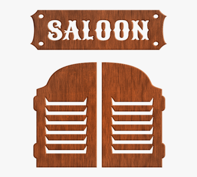 Saloon, Saloon Door, Alcohol, Western, Cowboy - Hardwood, HD Png ...