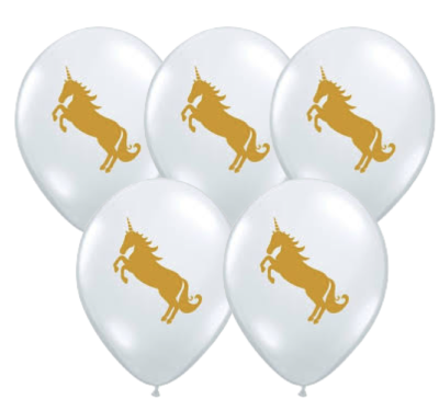 Download Clear Gold Unicorn Balloon - Unicorn - 11 Inch Balloons ...