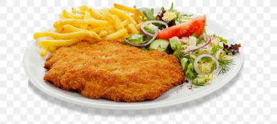 Wiener Schnitzel French Fries German Cuisine Bistro, PNG ...
