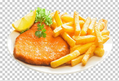 French Fries Wiener Schnitzel Veal Milanese Pizza PNG, Clipart ...