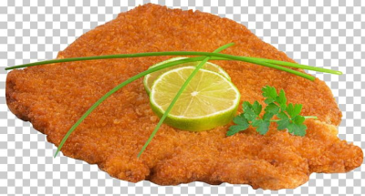Wiener Schnitzel French Fries Hamburger Breaded Cutlet PNG ...