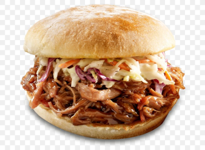 Pulled Pork Hamburger Barbecue Grill Coleslaw French Fries, PNG ...
