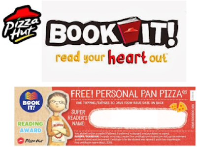 Pizza Hut Book It Program = Free Pizza Coupons To Give To Your ...