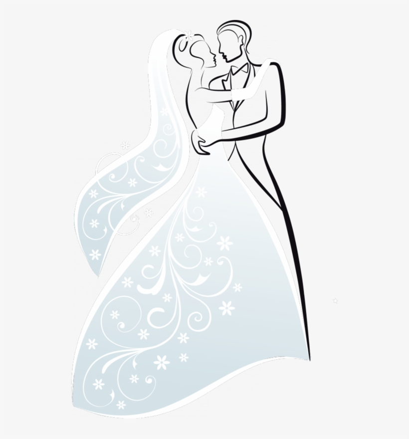 Bride And Groom Silhouettes - Vintage Bride And Groom Silhouette ...