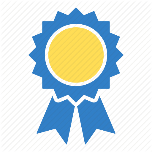 Award, first place, prize badge, trophy, winner icon