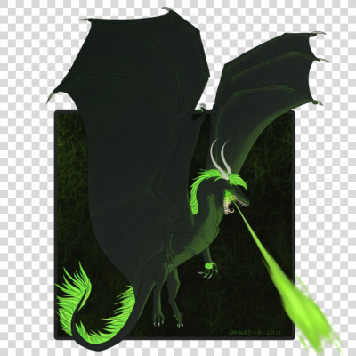 Acid Green DeviantArt Dragon Artist, Simple Wings Trace PNG, Free ...