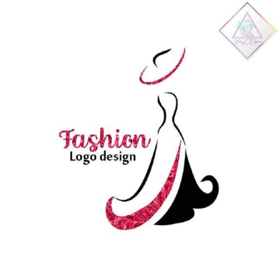 Premade fashion logo design in png and pdf format, woman in ...