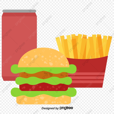 Fast Food Fast Food Packages, Hamburger, Coke, French Fries PNG ...